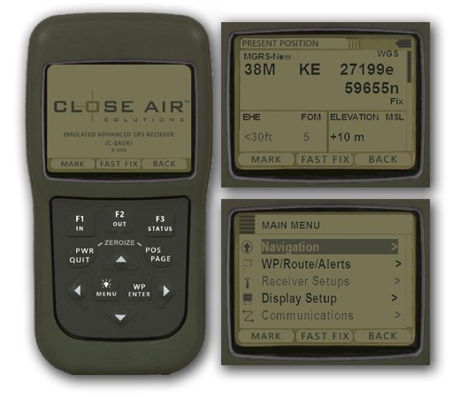 CEAGR Unit and Sample Display Screens